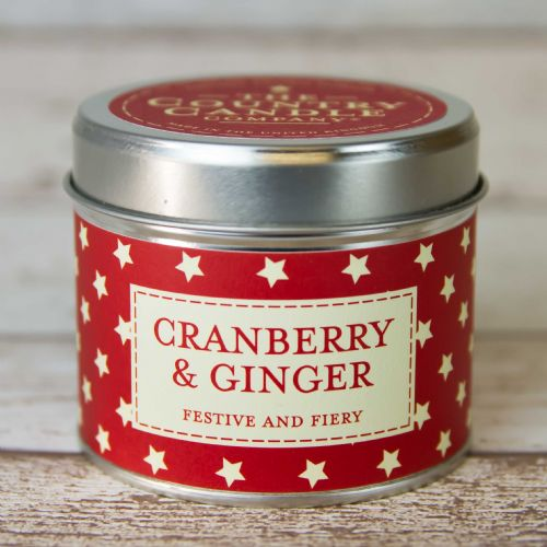Cranberry and Ginger Tin Candle